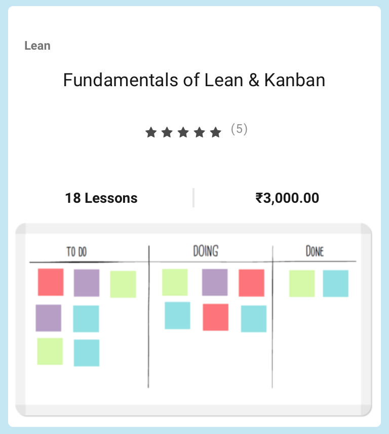Lean and Kanban